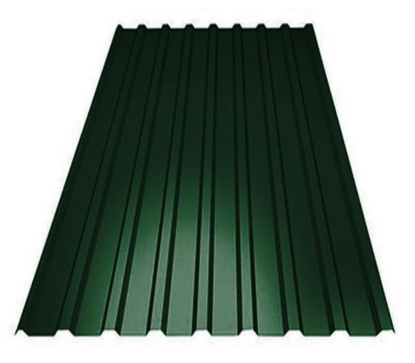 Профнастил С8 зелёный (1.2х2м), фото