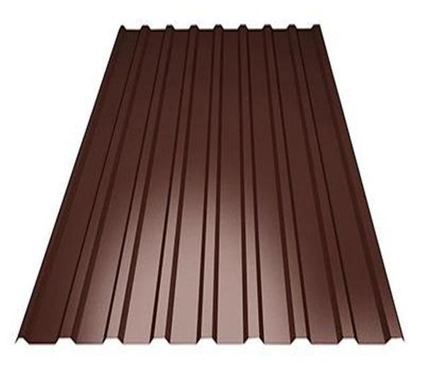 Профнастил С8 коричневый (1.2х2м), фото